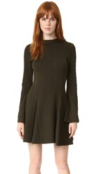 Nicholas N Long Sleeve Dress Khaki