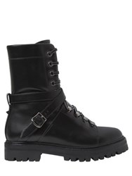 Valentino 25Mm Rockstud Leather Combat Boots