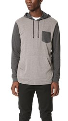 Rvca Set Up Hoodie Grey Noise