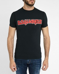 Dsquared Black Sexy Fit Iron Maiden T Shirt