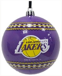 Memory Company Los Angeles Lakers Ugly Sweater Ball Ornament Purple