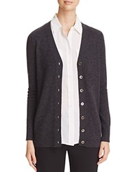 Bloomingdale's C By Grandfather Cashmere Cardigan Dark Slate