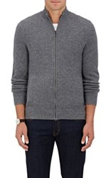 Z Zegna Men's Cashmere Blend Zip Front Sweater Grey