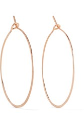 Brooke Gregson Hammered 18 Karat Rose Gold Earrings