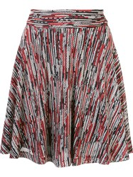 Alice Olivia Mid Rise A Line Skirt Red