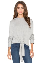 Beautiful People Tie Front Hoodie Gray