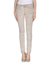 Twin Set Simona Barbieri Denim Pants Beige