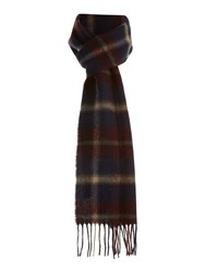 Barbour Hardwick Plaid Scarf Navy