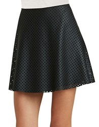 Bcbgeneration Fit And Flare Faux Leather Mini Skirt Black
