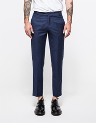 Brooklyn Tailors Super 120S Wool Flannel Trouse Air Force Blue