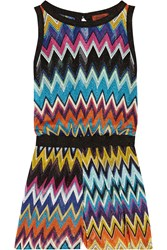 Missoni Mare Crochet Knit Playsuit Magenta Blue