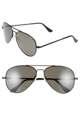 Randolph Engineering 'Concorde' 61Mm Aviator Sunglasses Matte Black Grey Polar
