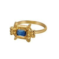 Solomeina Katia Fair Ring Gold With Blue Topaz