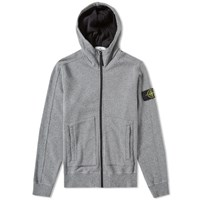 Stone Island Patch Pocket Zip Hoody Grey