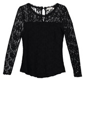Cream Therese Blouse Pitch Black