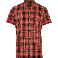 River Island Mens Red Checked Oxford Short Sleeve Shirt