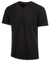 Alfani Slim Fitted V Neck T Shirt Black