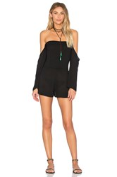 Blue Life Smocking Romper Black