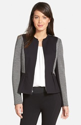 Classiques Entier 'Giana' Ponte And Double Knit Jacket Black White