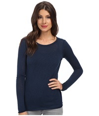 Candc California L S Layering Tee Navy Women's Long Sleeve Pullover