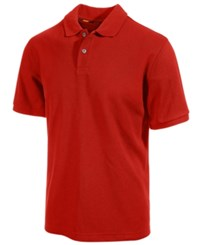 Club Room Big And Tall Performance Uv Protection Men's Polo Shirt Cherry Wood