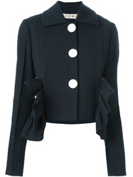 Marni Ruffle Crop Jacket Black