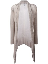 Armani Collezioni Shawl Collar Drapey Cardigan Nude And Neutrals