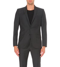 J. Lindeberg Slim Fit Single Breasted Wool Jacket Almst Blk