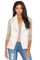 525 America Reversible Faux Shearling Vest Cream