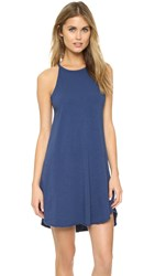 Sundry High Neck Tank Dress Navy