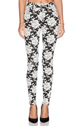 7 For All Mankind The High Waisted Contour Skinny White Rose Jacquard