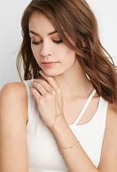 Forever 21 Bar Charm Hand Chain Gold Matte Gold