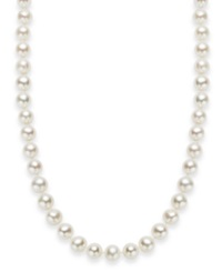 Macy's 18' Cultured Freshwater Pearl Strand Necklace In Sterling Silver 7 8Mm