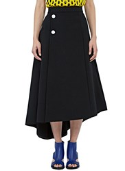 Marni Long Asymmetric Skirt Black