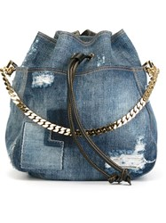 Dsquared2 Denim Backpack Blue