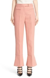 Women's Fendi Trumpet Hem Crop Cotton Pants