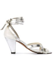 Gianfranco Ferre Vintage Strappy Sandals White