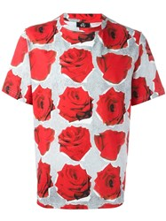 Paul Smith Ps By Rose Print T Shirt Red