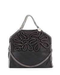Falabella Fold Over Zipper Small Tote Bag Black Stella Mccartney