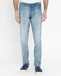Ikks Blue Slack Denim Chinos