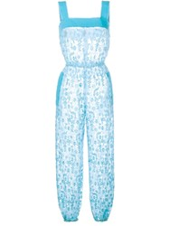 Dolce And Gabbana Lace Floral Jumpsuit White