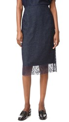 Grey Jason Wu Lace Pencil Skirt Marine Deep Forest