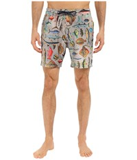 Sperry Swimmin' With Da Fish Volley Shorts Multi Men's Swimwear