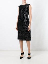 Giorgio Armani Sequined Dress Black