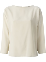 Etro Loose Fit Long Sleeve Top Nude And Neutrals