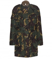 Burberry Tomsdale Camouflage Printed Cotton Coat Green