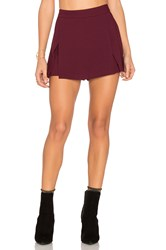 Bcbgeneration Mini Skort Burgundy