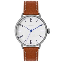 Tsovet Svt Cn38 White And Brown Leather Watch