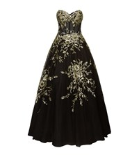 Jovani Floral Embellished Corset Gown Female Black