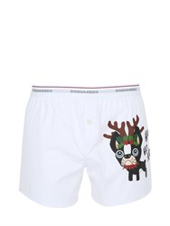 Dsquared Ciro Print Stretch Cotton Poplin Boxers